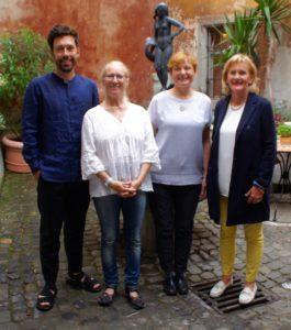 die 4 neuen Vorstände v.l.n.r.: Felix Rundel, Uta Weik-Hamann, Dr.Andrea Krogmann-Zipse, Monika Lang.